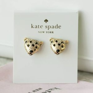 NWT Kate Spade Run Wild Cheetah Stud Earrings
